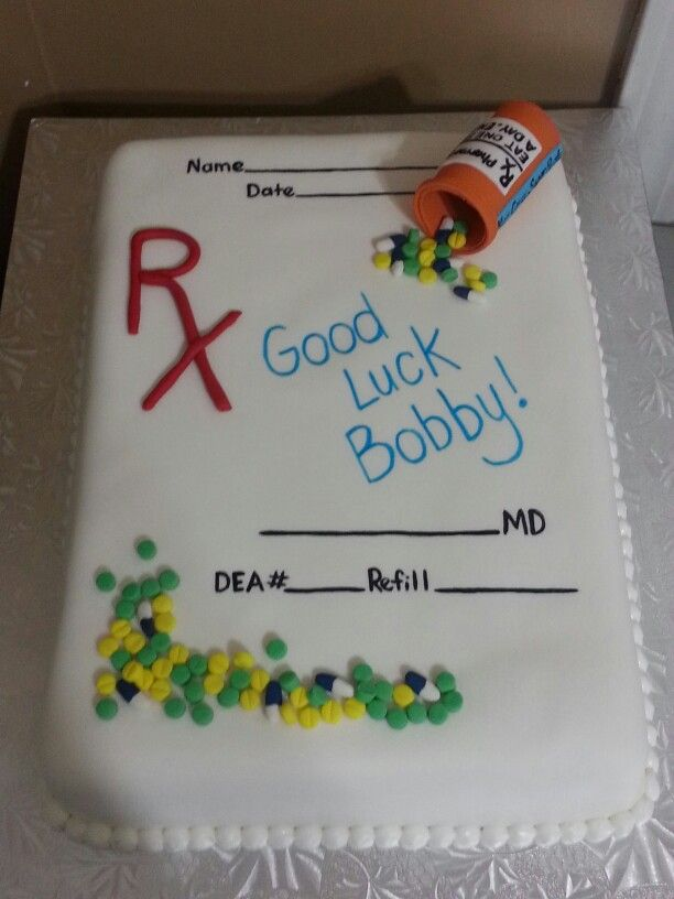 Pharmacy themed cake. Kakes by Kena