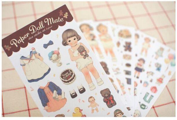 R31 6 лист(ов) милые каваи девушка кукла DIY наклейки декоративные наклейки скрапбукинга DIY дневник альбом палки этикетка декор ремесло купить на AliExpress