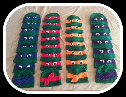 TMNT crochet hats