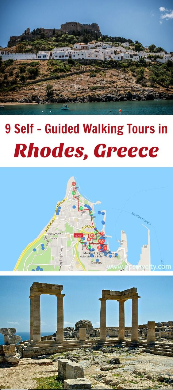Follow these 9 expert designed self-guided walking tours in Rhodes, Greece to explore the city on foot at your own pace. Each walk comes with a detailed tour map and together they are the perfect Rhodes city guide for your trip.