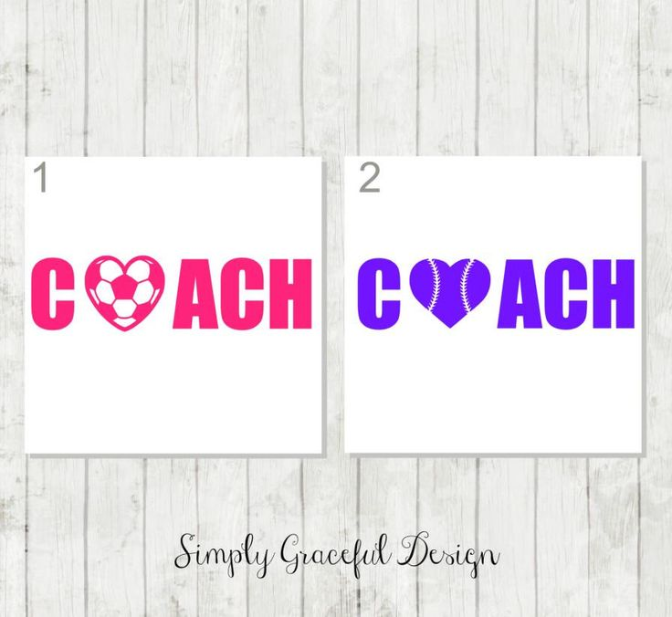Personalized Coach Decal - Coach Decal with Heart - Soccer Mom Coach Decal - Soccer Coach Decal - Baseball Coach Gift - Coach Tumbler Decal by SimplyGracefulDesign on Etsy