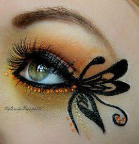 Καλλιτεχνικό μακιγιάζ με πεταλούδες!