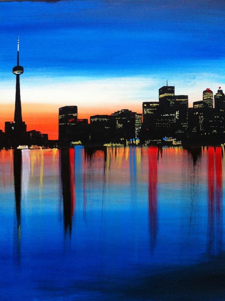 Quot Home Quot Artist Emma Belford Toronto Skyline Painting