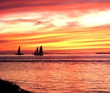 Sunset over Key West, FL
