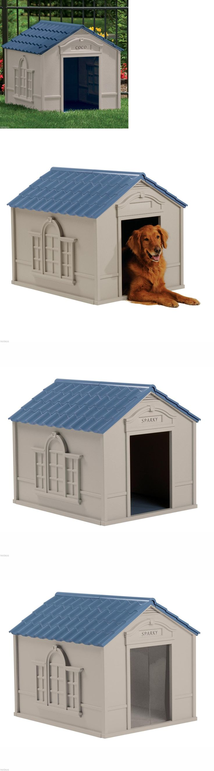 Dog Houses 108884: Deluxe Extra Large Pet Dog Cat House Home Outdoor Cage Durable Resin All-Weather BUY IT NOW ONLY: $78.85