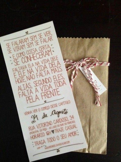 Frases românticas para o convite de casamento