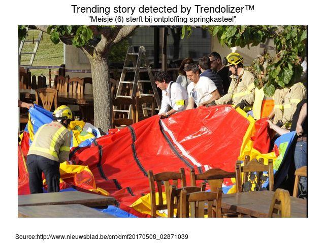 Een zesjarig meisje is zondagmiddag overleden nadat het springkussen waarop ze aan het spelen was vermoedelijk explodeerde. Het ongeval gebeurde bij een re... (via: trendolizer.com)