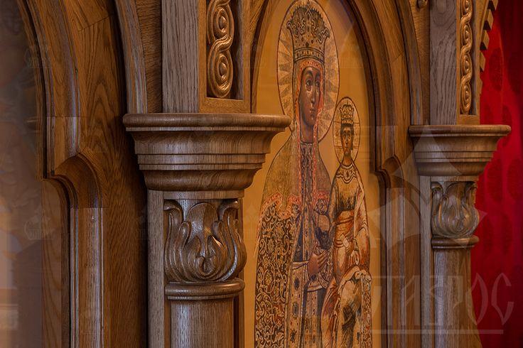 Фрагмент резного коностаса для православного храма в городе Стрельне.   #иконостас #храм #стрельна