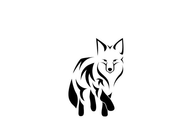 Simple fox head outline - photo#23