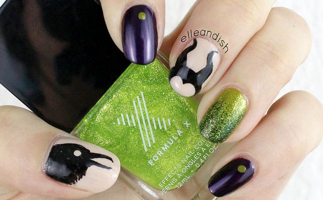 Maleficent Nail Tutorial // elleandish