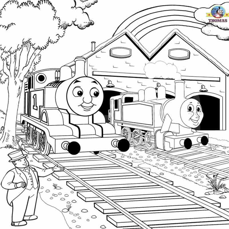 29 best images about thomas colouring pages on pinterest