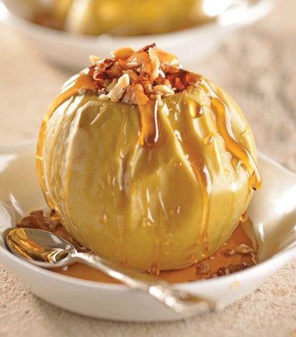 """Rico y ligero: """"Manzanas al horno con frutos secos y miel de maple"""""""