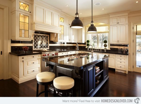 15 dainty cream kitchen cabinets countertops work tops for Cream kitchen cupboards