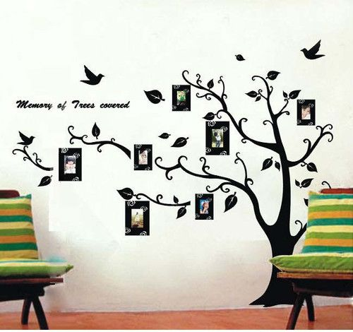 Family Tree Wall Decor Photo FrameVinyl Wall Sticker Home Art Wall Decal  Mural Part 59