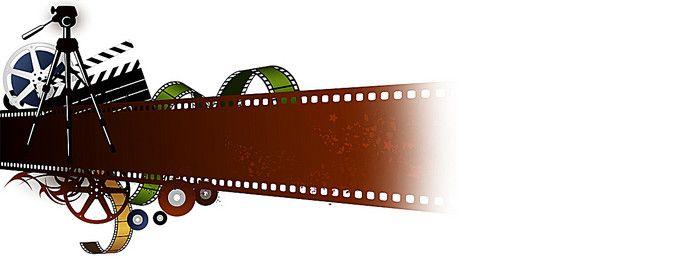 Movie film background banner design