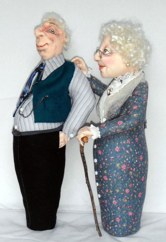 """*NEW* CLOTH ART DOLL (E-PATTERN) """"OLD FRIENDS KEEP YOU SANE!"""" BY SHARON MITCHELL #SFMClothDollsWithAttitude"""