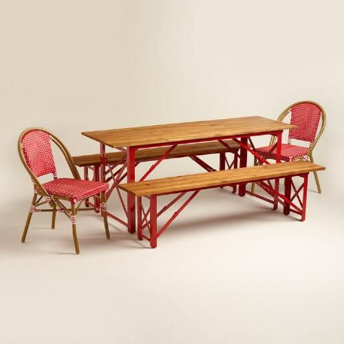 One of my favorite discoveries at WorldMarket.com: Red Beer Garden Outdoor Dining Collection