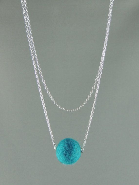 Hey, I found this really awesome Etsy listing at https://www.etsy.com/listing/177531349/stunning-single-felt-ball-on-chain