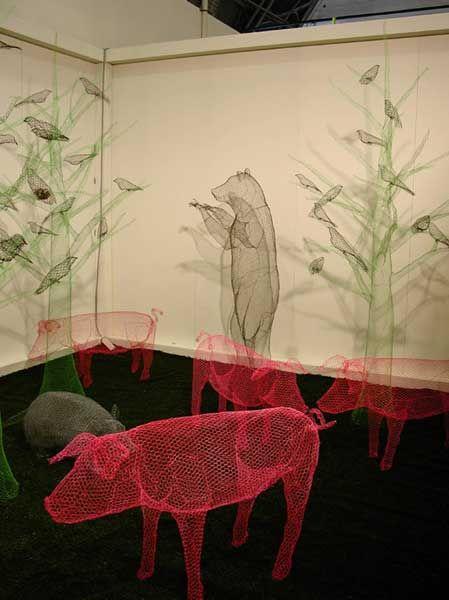 wire sculptures by Benedetta Mori Ubaldini
