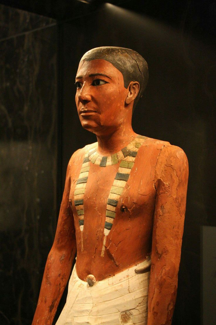 Statue of Metjetji.Wood and gesso with paint,copper, alabaster and obsidian. 2371-2288 B.C. Late V Dynasty-early VI Dynasty, Old Kingdom. •The Nelson-Atkins Museum of Art•