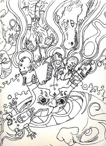 find this pin and more on camp garbabge squid coloring trippy coloring pages