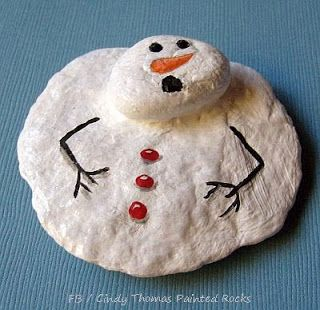 How to Make a Melting Snowman with Painted Rocks