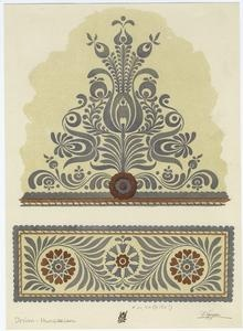 hungarian designs- love the idea of taking the colors out of it.