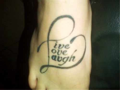 live laugh love tattoos for women - Bing Images