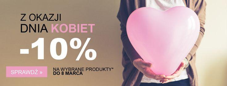 8 marca- Dzień Kobiet. A od sklepu tvokazje.pl 10% rabatu na wybrane produkty.