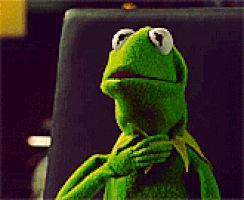 Scared Kermit gif