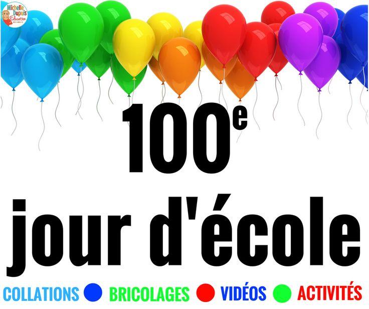 Le 100e jour d'école  est un moment spécial  qui mérite d'être souligné en grand. Vous trouverez ci-dessous des vidéos, des ressources grat...