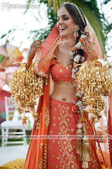 A Sikh Bride Wearing Beautiful Wedding Jewelry #Kalire