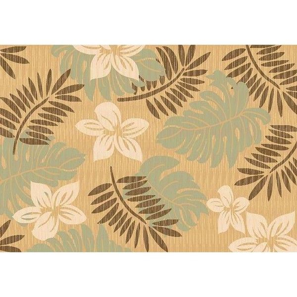Rugs America Tropics Marigold Rug ($670) ❤ liked on Polyvore featuring home, rugs, cream area rug, polypropylene area rugs, tropical area rugs, patterned rugs and polypropylene rugs