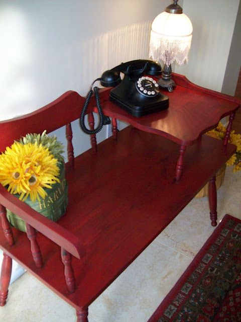 Telephone Table (aka Gossip Bench) - I have an unexplainable want for a bench like this.