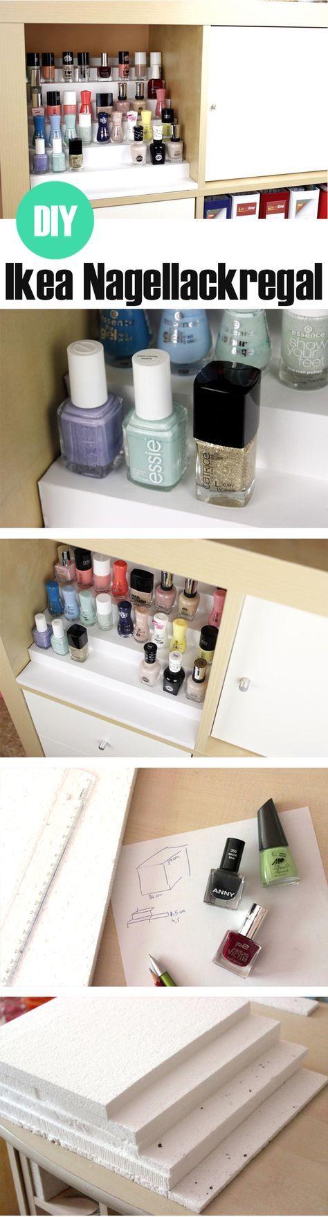 DIY: Nagellacktreppe fürs Ikea Regal günstig selber machen