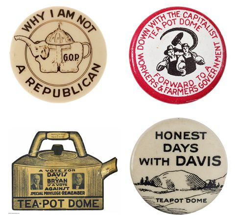 The Teapot Dome Scandal and the 1924 Election. http://retrocampaigns.tumblr.com/post/27338962898/the-teapot-dome-scandal-and-the-1924-election
