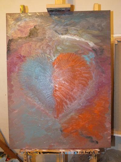 """""""Zlomené srdce"""" od autora ZasteraArt, počáteční cena 7000,- Kč, aukce končící 28.8. 2015."""