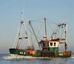 RX is the registration lettering for boats based at Hastings, Rye and Dungeness = Rye, susseX