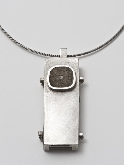 Necklace - Memories Stick Pendant by Emma Louise Bugg - Concrete Jewellery - Tasmanian artist