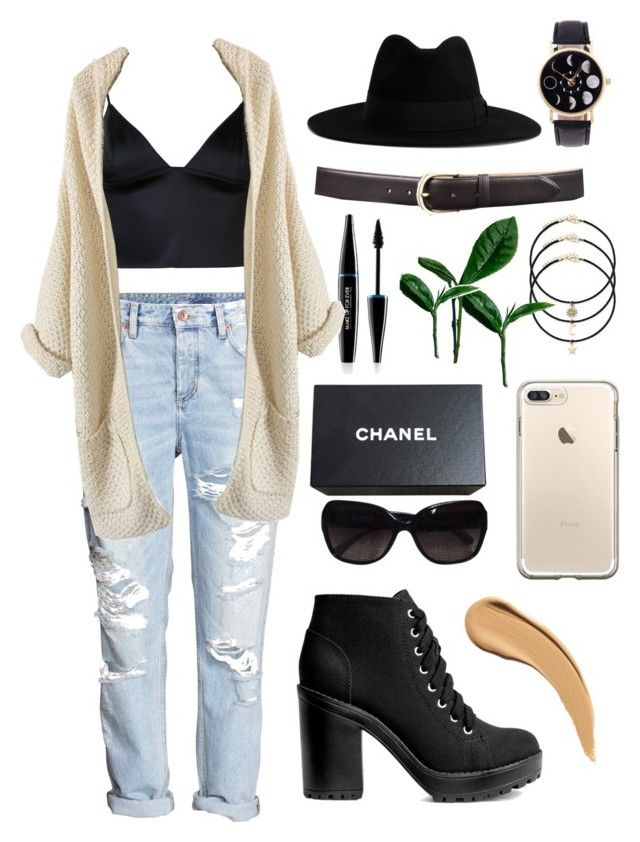 """""""Fall Vibes"""" by evilqueenie ❤ liked on Polyvore featuring MAKE UP FOR EVER, H&M, T By Alexander Wang, Yves Saint Laurent and Chanel"""