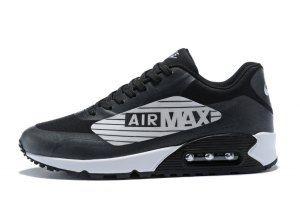 Mens Nike Air Max 90 Giant Logo Wolf Grey Black White AJ7182 004 Running  Shoes d74883836