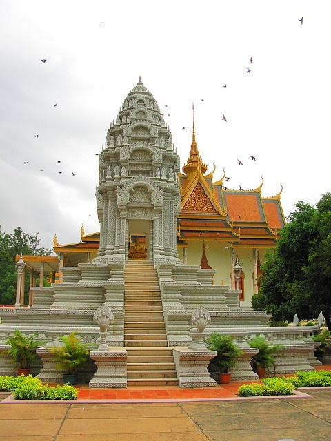 Stupa beside Silver Pagoda in Phnom Penh, Cambodia   PicsVisit