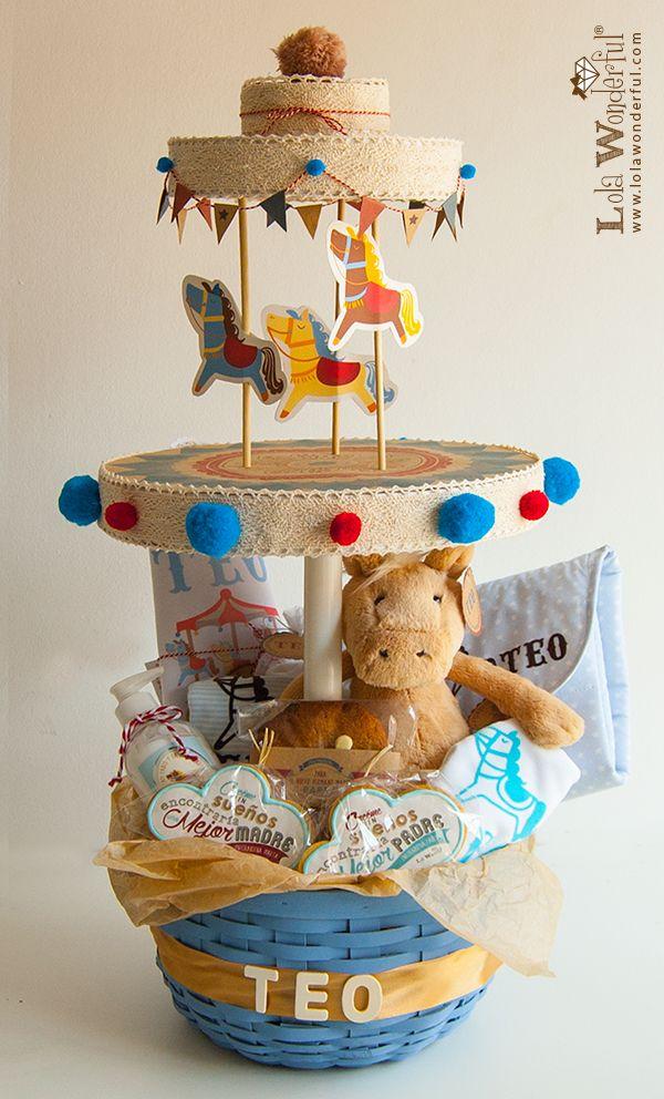 Lola Wonderful_Blog: Tiovivo cesta de recién nacido, regalo personalizado