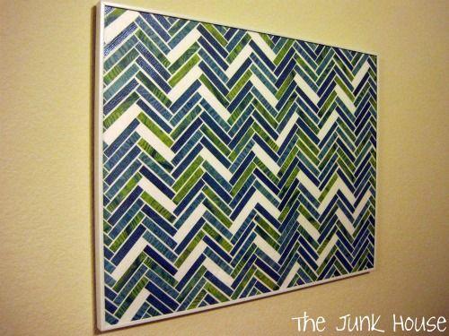 : Wall Art, Diy Herringbone, Diy Art, Herringbone Art, Diy Tutorial, Paper Art, Art Ideas, Scrapbook Paper, Herringbone Wall