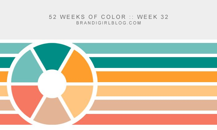 52 Weeks of Color :: Week 32 color palette from brandigirlblog.com