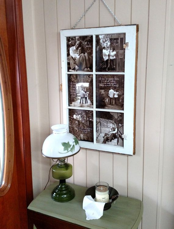 Photo Frame - Picture Frame Collage - Photo Collage Frames - Collage Picture Frame - Window Pane Picture Frame - Wood Picture Frame