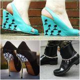 Je hebt een nog grotere schoenencollectie dan de plaatselijke Schoenenreus, maar toch sta je elke dag voor hetzelfde dilemma: je hebt geen pump die bij je outfit past. Alles is saai, afgedragen en gewoon, bleh. Hoog tijd voor een DIY!