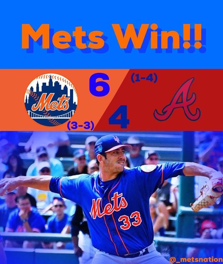 """The Mets beat the Braves 6-4 to move to 3-3 on the season.  The offense played well including a solo shot from Brandon Nimmo his first home run of the year.  Matt Harvey started and had two hits and two strikeouts.  He has a .450 era after today.  Harvey's slider looked good and he said that it's a """"completely new year"""" which is good because we deninitely don't need a repeat of last year.  P.J. Conlon (0-0) is the winning pitcher with two innings pitched one hit and two strikeouts. (Fun…"""