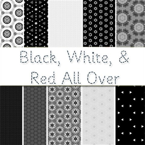 Black, White, & Red All Over--   Free Black & White Scrapbook Kit