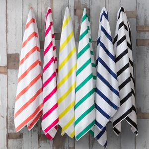 Perfect poolside or beach accessory, these classic striped Juicy Lucy Beach Towels by Zest are a must have basic.